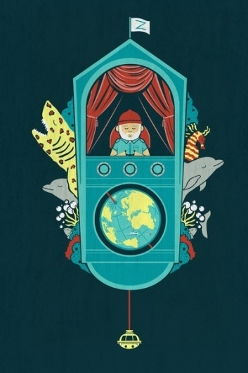 Aquatic Adventurer Art Print by Teo Zirinis   Society6 #illustration #wes #anderson #zissou