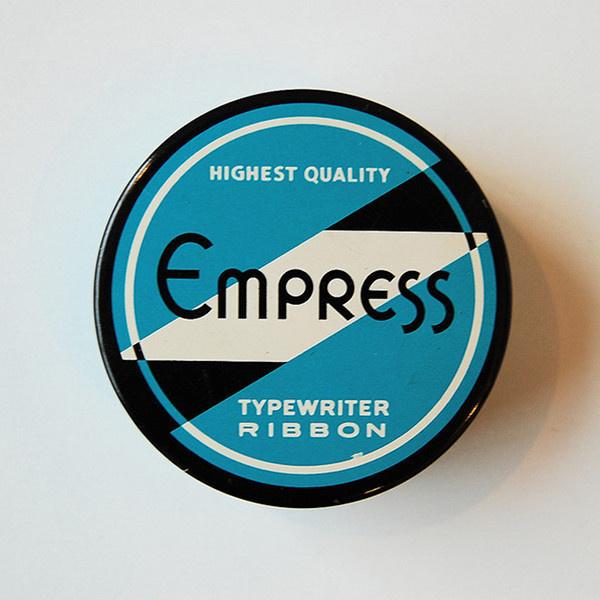 vintage typewriter ribbon tin #packaging #tin #ribbon #typewriter #typography