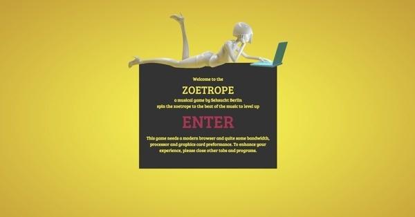 INTERACTIVE ZOETROPE on Behance #yellow #web