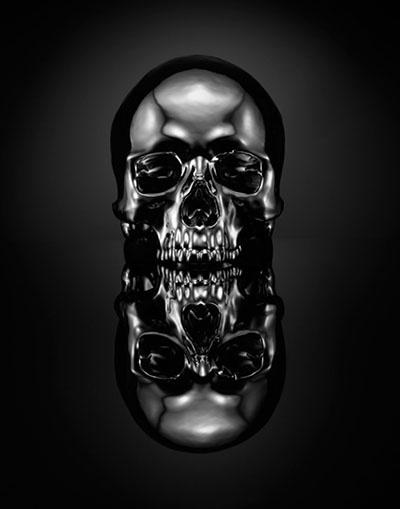 Designersgotoheaven.com - Skull bySPENCER... - Designers Go To Heaven #dead #skull #black