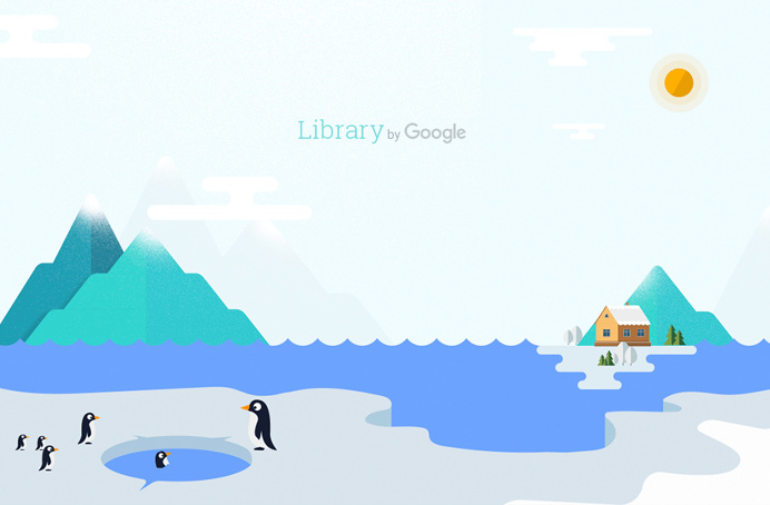 #WeLoveNoise #google #library #website #illustration