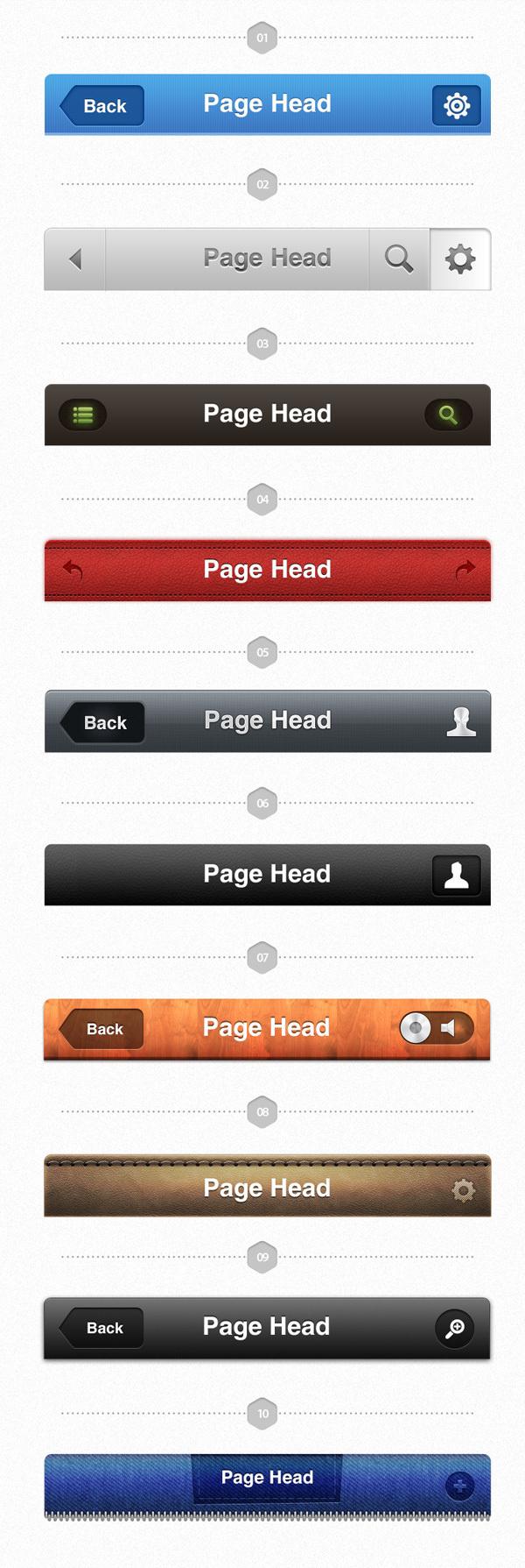UI Pack for iOS – Build Apps. Awesomely! #header #app #ios #navbar #navigation