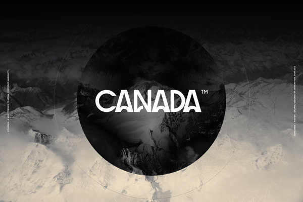 Canada™ Typeface by Anthony Neil Dart #typeface #typography #black and white