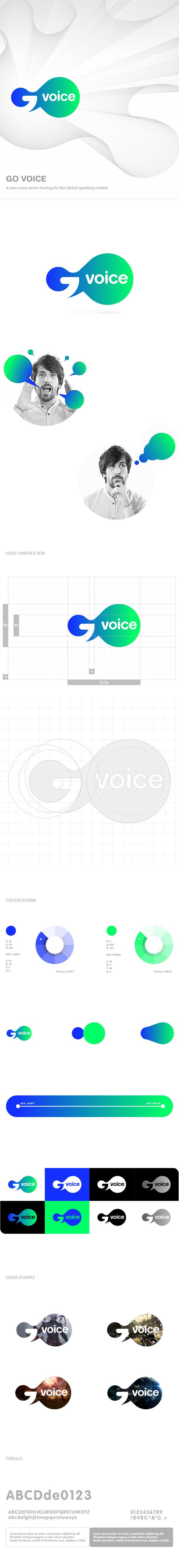 Go Voice #logotype #branding #geometric #grid #brand #logo