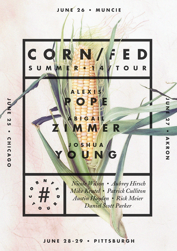 Corn/fed Summer 14 Tour Poster