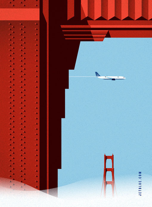 LabPartners_JetBlue_1 #airplane #flight #bue #retro #aviation #airline #illustration #jet #poster