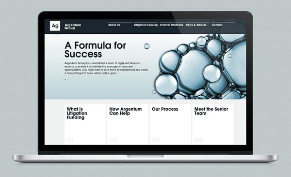 Website Design Argentum Group by Ascend studio #website #legal