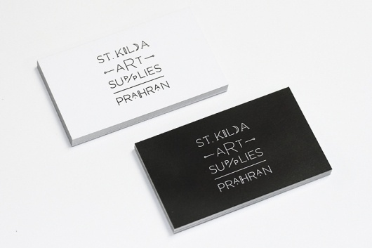 Sweet Creative | Recent-Work | St Kilda Art Supplies #white #business #card #black #identity #and #logo