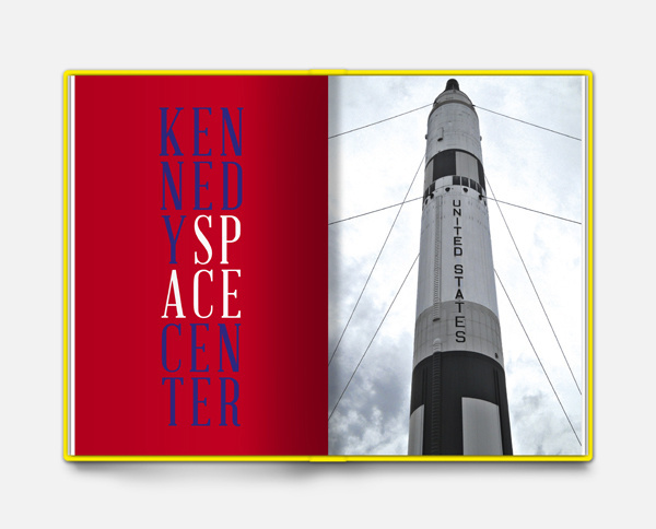 Photo book NYC — Florida on Behance #white #red #center #florida #photo #book #space #travel #rocket #kennedy #blue