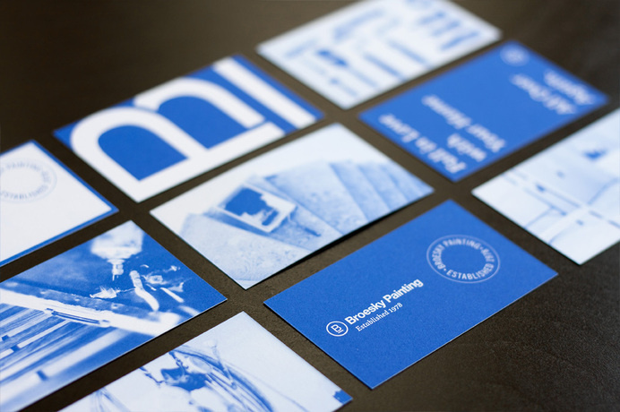 Broesky Painting business cards #business #cards #identity #painting