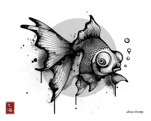 Nanami Cowdroy Art – Illustration inspiration on MONOmoda #illustration #black