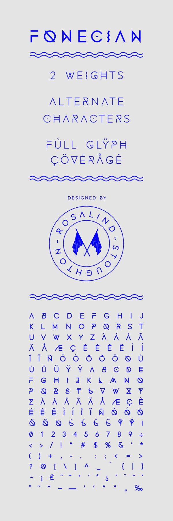 Fonecian Typeface on Behance #simple #shapes
