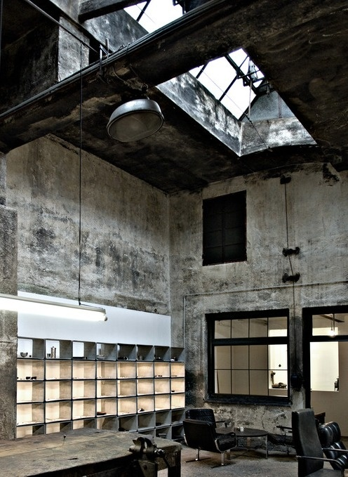 """Image Spark Image tagged """"ambient"""", """"architecture"""", """"dressing"""" fe_brenner #interior #white #design #structure #architecture #ruins #light"""