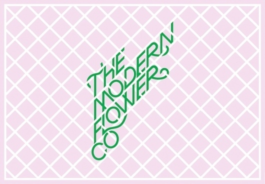 The Modern Flower Company - Projects - A Friend Of Mine #corporate #design #identity #branding