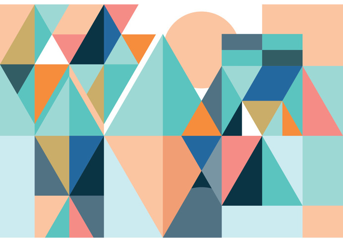 Nod Young, shapes, color, bright, fun