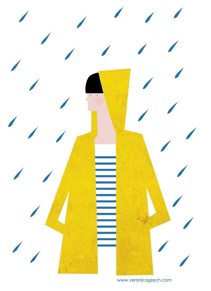 veronica grech illustration #illustration #rain