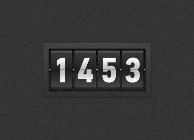 Black timer with numbers Free Psd. See more inspiration related to Black, Digital, Time, Numbers, Psd, Date, Timer, Material, Horizontal, Flip, Automatic, Timing and Flop on Freepik.