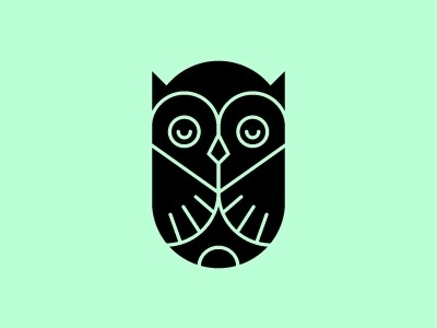 Dribbble - Sitting Low. by Tim Boelaars #mark #logo #owl