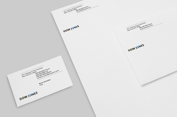 New logo and identity for Dow Jones by STUDIO NEWWORK #identity #design #graphic #branding