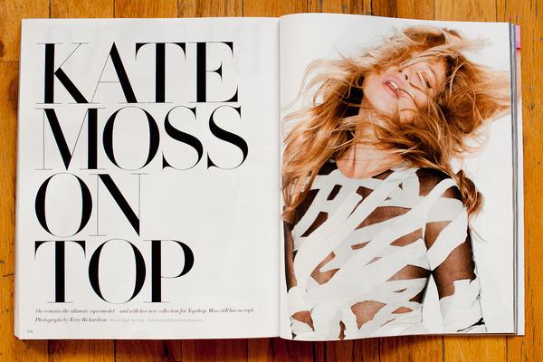 Terry Richardson's Diary #modern #serif #design #layout #magazine #typography