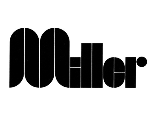 Item 129: Miller Holding Logo / Frank Eidlitz / 1970s « Recollection #miller #holding #collection #re #1970s #logo