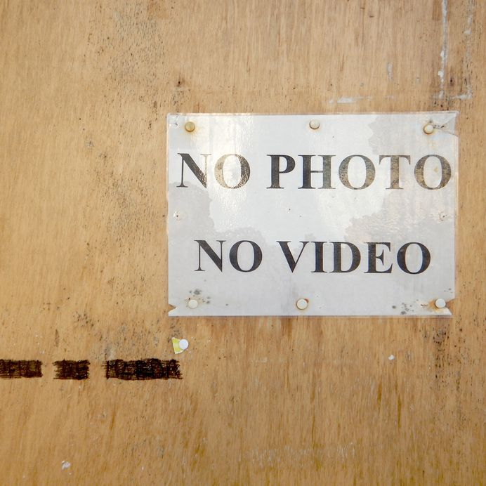 #nophoto #novideo #signage #typography PHOTOGRAPHIE © [ catrin mackowski ]