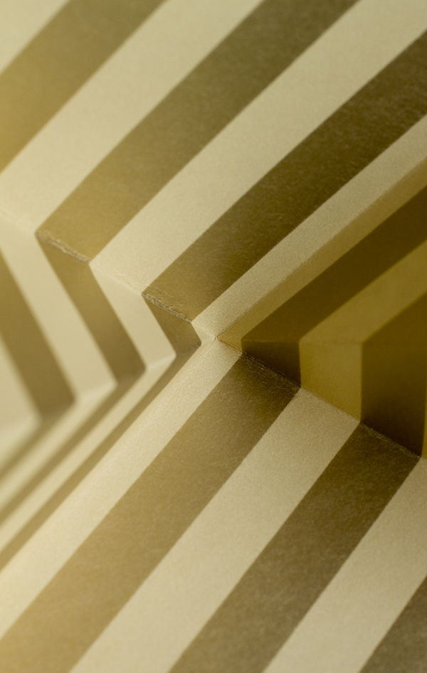 Paper folding #graphic design #gold #origami #paper folding