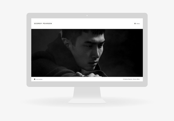 Geordy Pearson by R&Co. #responsive #design #clean #website #grid #minimal #web