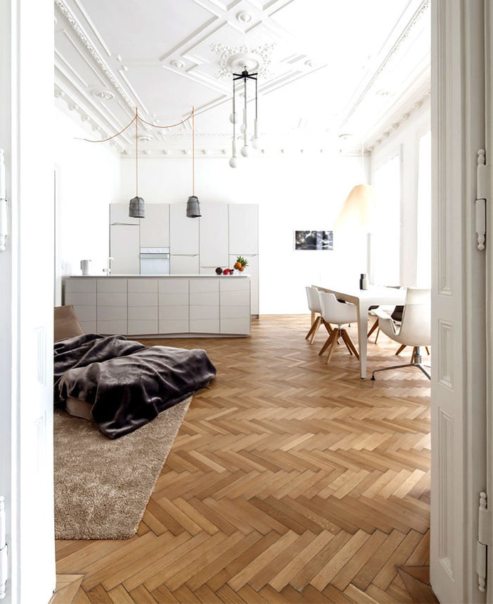 Beautiful Restored H + M Apartment by Studio Destilat beautiful restored apartment studio destilat