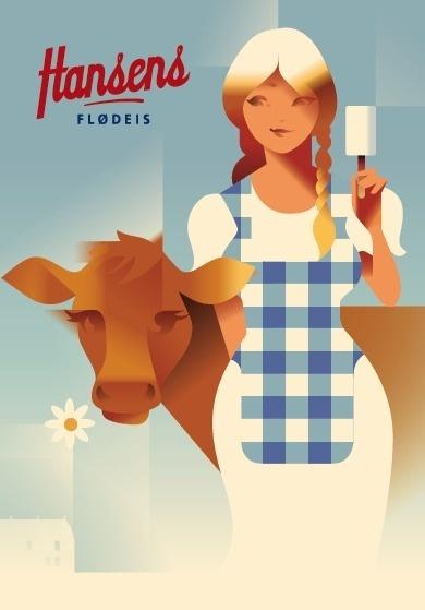 Hansen's Ice Cream #illustration #poster