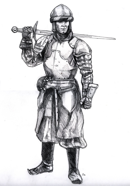 Medieval Knight #fantasy #sword #illustration #knight #sketch