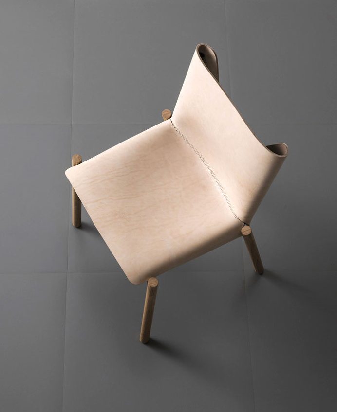 1085 Natural Hide Chair by Kristalia - furniture, furniture design, #design, modern furniture, #furniture