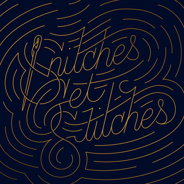 Snitches Get Stitches Art Print #illustration