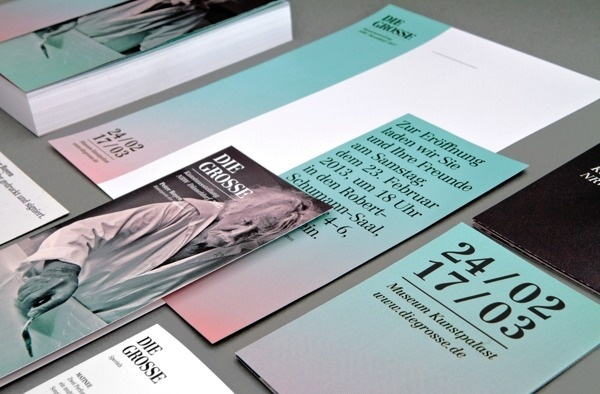 DIE GROSSE Kunstausstellung NRW Branding on Behance #die #print #design #graphic #gross #rainbow