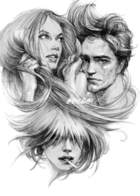 7 #zhang #weber #digital #illustration #pencil #sketch
