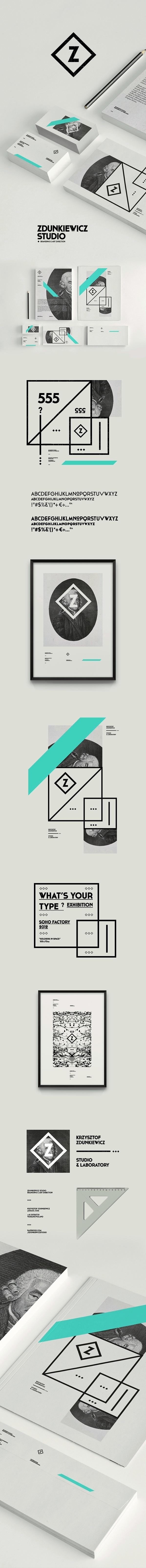 Zdunkiewicz Studio / Self Promotion on Behance #logo #identity #branding