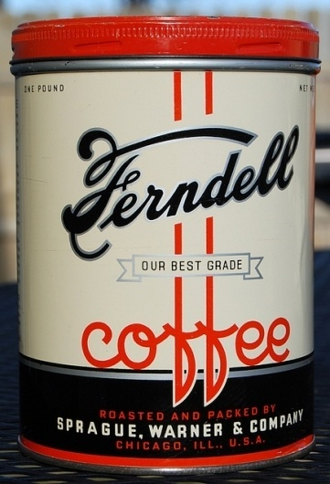 Ferndell Coffee, 1930's | Flickr - Photo Sharing! #lettering #script #label #vintage #type #typography