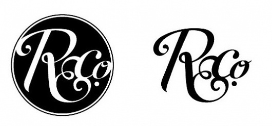 poly / print & digital design #circle #script #white #initials #black #ampersand #logo