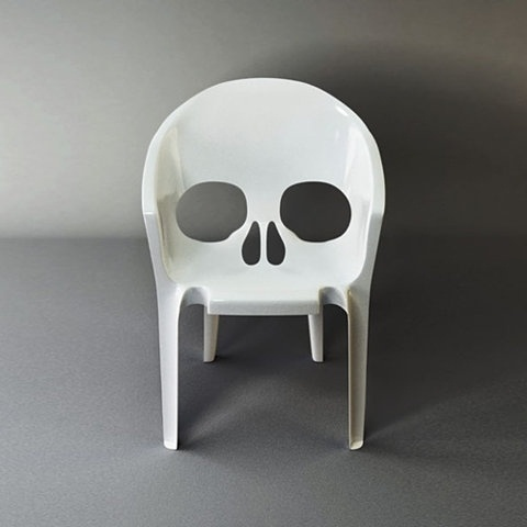 FFFFOUND! | this isn't happiness.™ #eyes #chair #skull #death