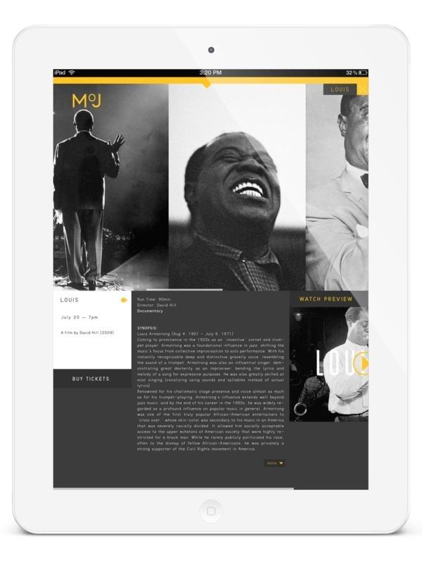 MoJ | New Orleans on Behance #ipad #app #museum #jazz