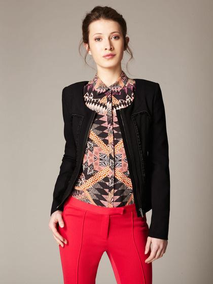 Matthew Williamson Woven Crepe Ruffle Trim Jacket #fashion #gilt #pattern