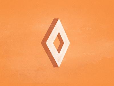 Diamond #diamond #orange #geometric #illustration #shape