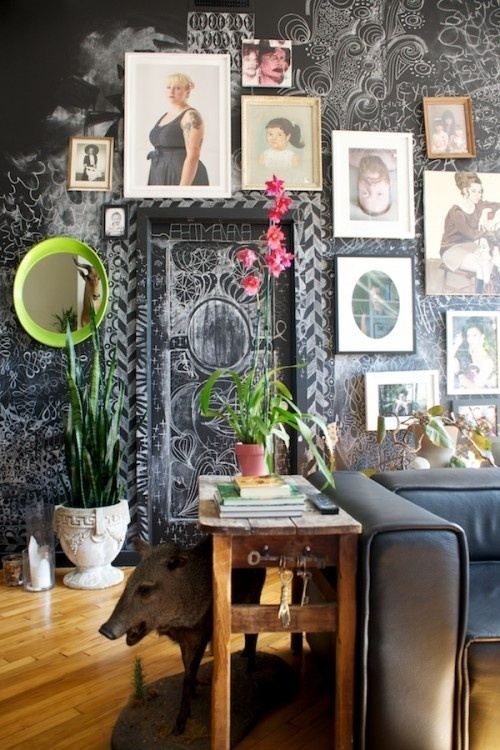 1David #walls #apartment #chalkboard
