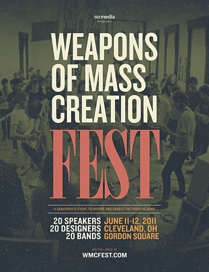 WMC Fest Web Banners | Weapons of Mass Creation Fest #festival #knockout #bodoni #poster #music #cleveland #conference #typography
