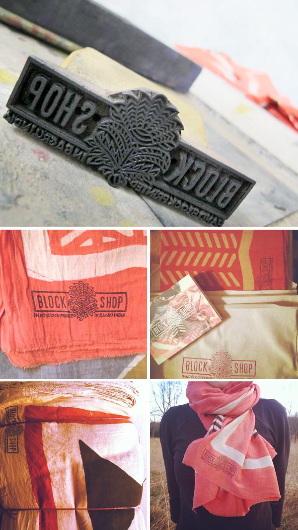 Indian wood block shop identity #design #culture #wood #printing #indian #block