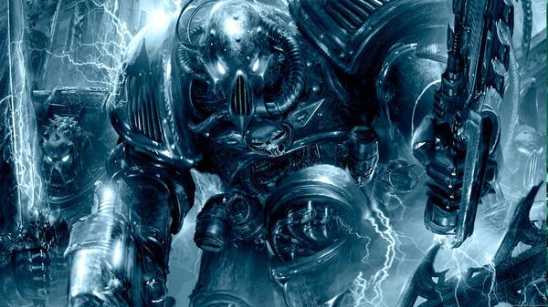 Warhammer 40k Art - The Devourer´s day off #robot #futuristic #fi #sci #mechanical #mech #warhammer