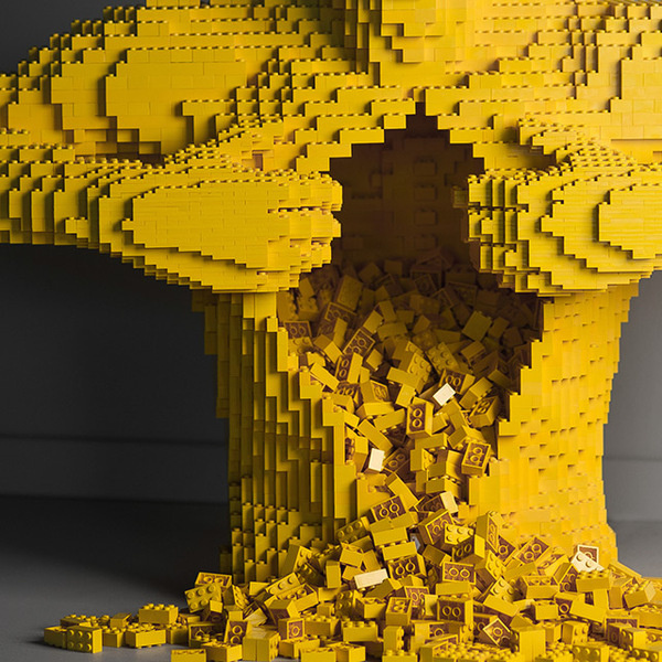 Art of the Brick: Nathan Sawayas LEGO Solo Show in New York #sculpture #lego #art