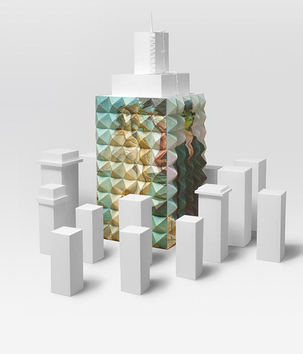 Studio B Residence on Behance #design #home #craft #brand #art #papercraft #paper