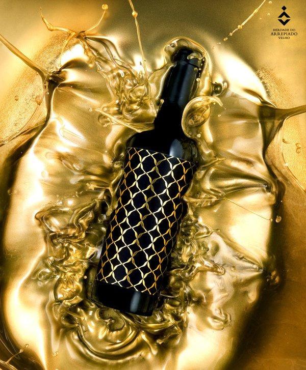 Arrepiado Collection Wine #pattern #bottle #packaging #label #wine #gold