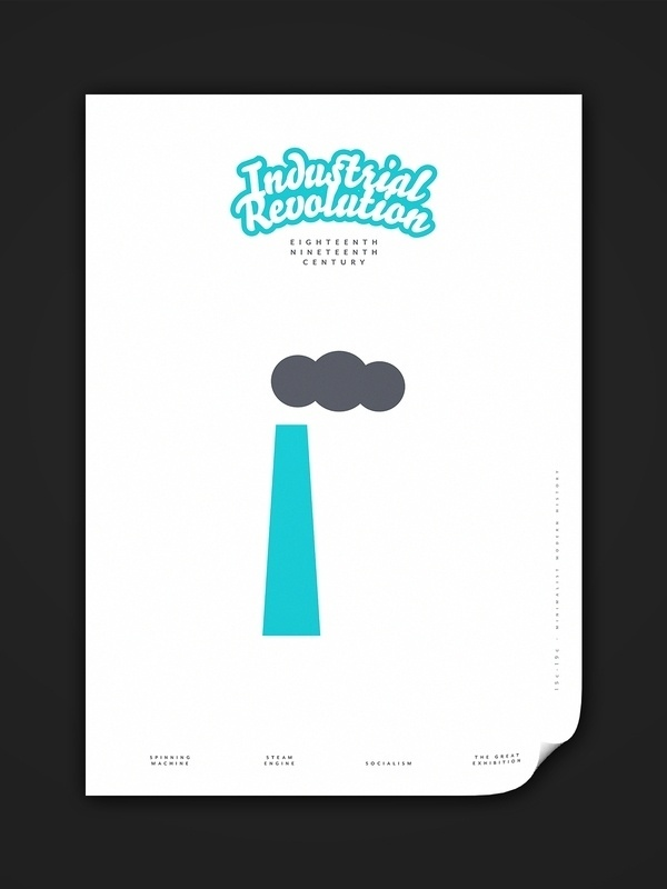 Minimalist Modern History 15c–19c on the Behance Network #history #modern #lee #wonchan #industrial #poster #minimalist #typography